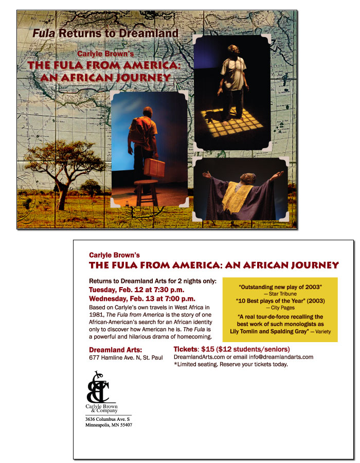 Carlyle Brown - Fula in America postcard